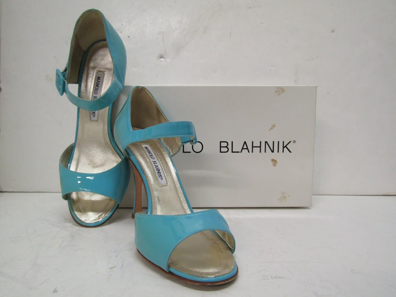Manolo Blahnik Patent Leather Sandals