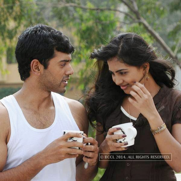 Ashwin Kakumanu and Srushti Dange in a still from the movie Megha.