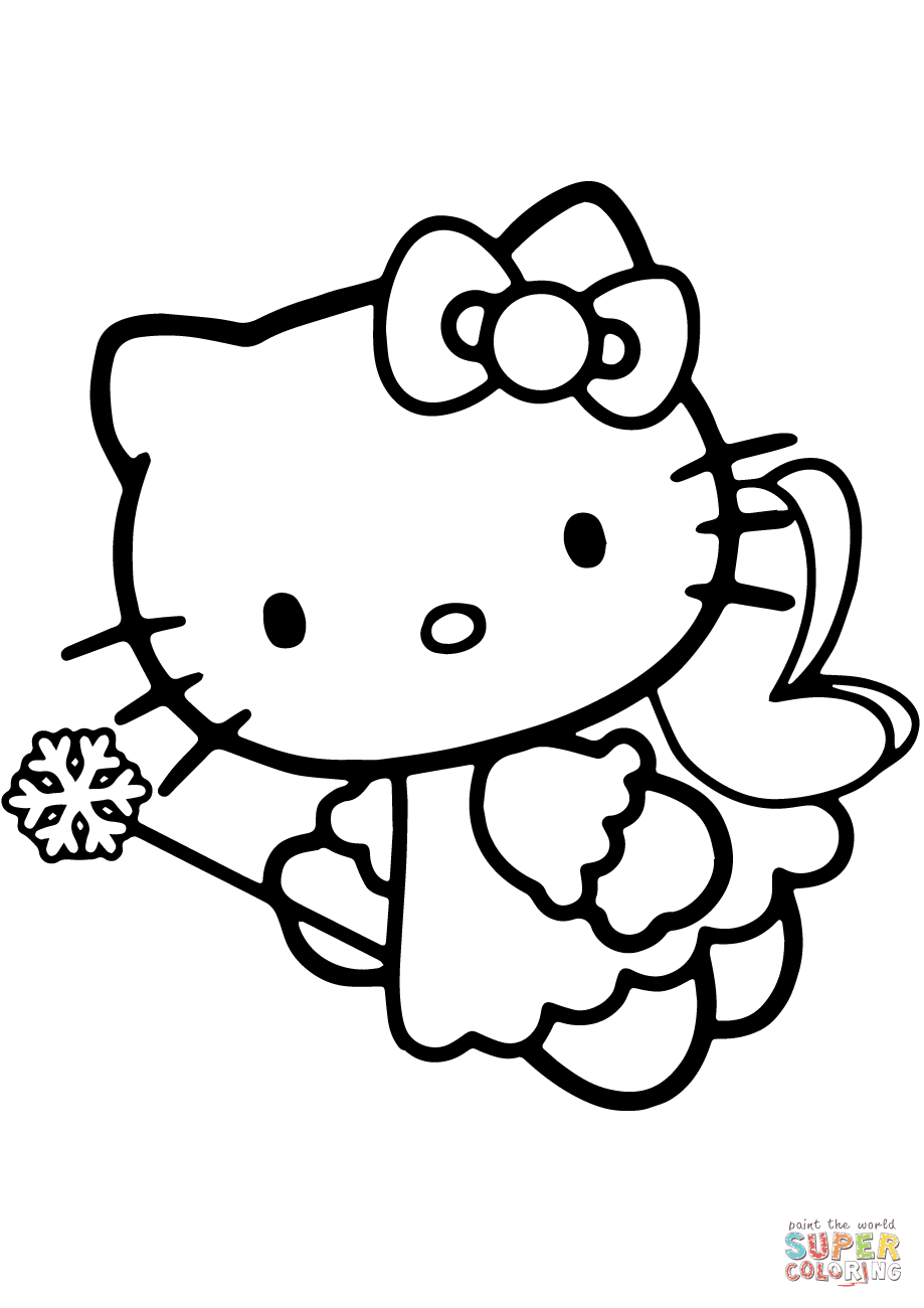 best hd hello kitty fairy coloring pages free coloring pages for children and adult. Black Bedroom Furniture Sets. Home Design Ideas