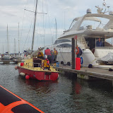 The yacht moors in Poole Quay Boat Haven. 28 September 2013. Photo credit: RNLI / Dave Riley
