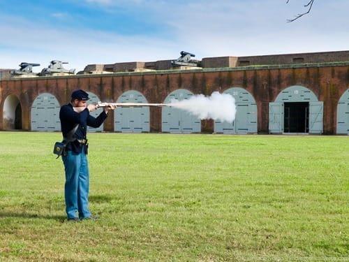 Fort Pulaski Musket demonstration Savannah Georgia