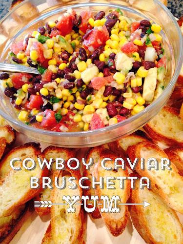 Cowboy Caviar, black bean salsa