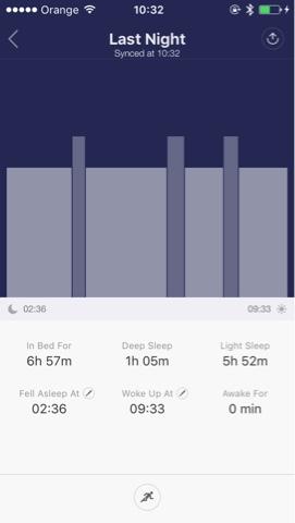 pantalla de xiaomi mi band control de sueño