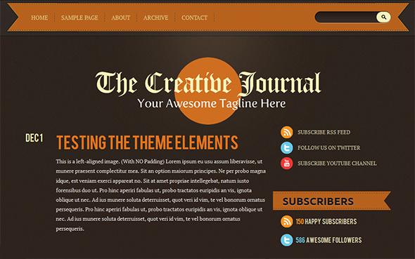 Retro Vintage WordPress Theme