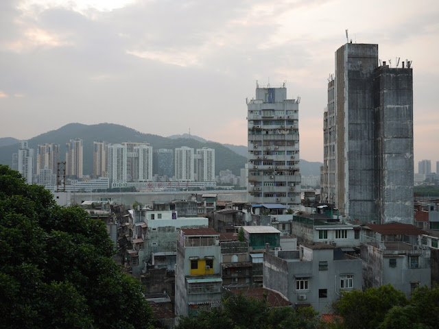 View towards Zhuhai from Camões Garden in Macau