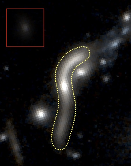 galáxia eMACSJ1341-QG-1