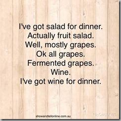 salad-wine dinner