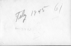 Italy 1945 Pequot Lakes ant back