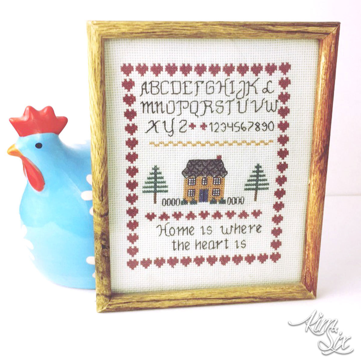 Cross stitch sampler home is where the heart is