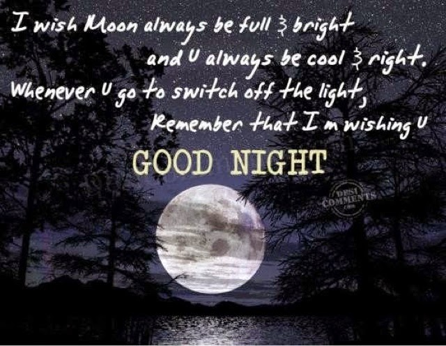i m going to bed now goodnight