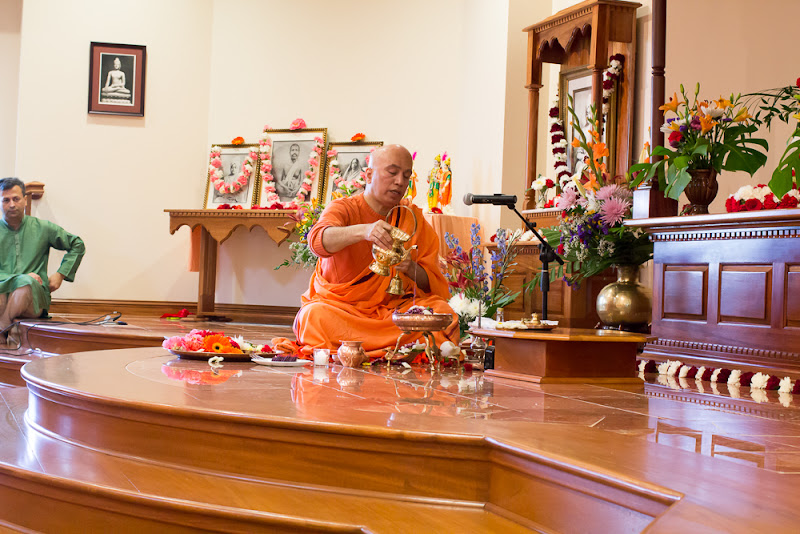 Day 2 Puja performing by Swami Tyagananda
