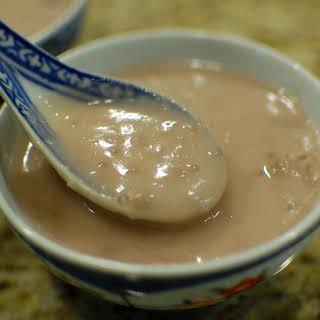 Sweet Taro and Tapioca Dessert Soup.