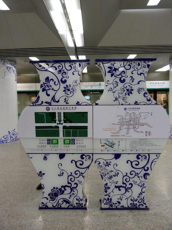 Dans une station de métro