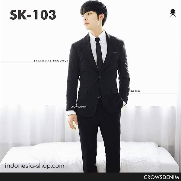 indonesia shop sk103 black blazer fit