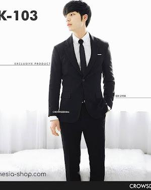 indonesia shop sk103 black blazer fit