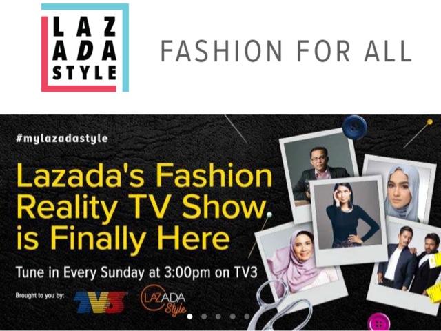 lazada, lazada reality show, Rancangan Realiti Fashion LAZADASTYLE