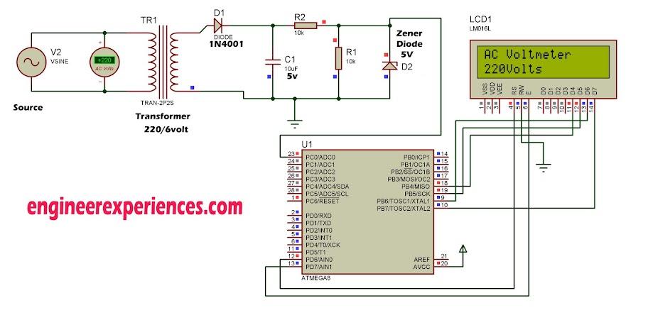Ac Voltage Measurement Using Atmega8 Engineer Experiences