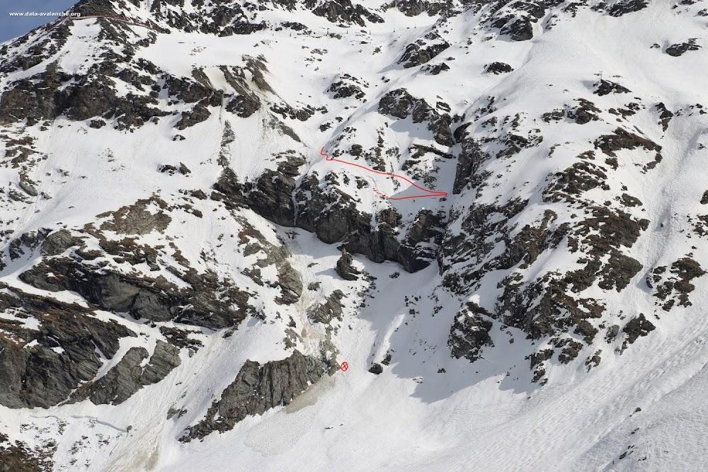 Avalanche Haute Tarentaise, secteur Aiguille Rouge, Hors-pistes des Grandes cascades - Photo 1