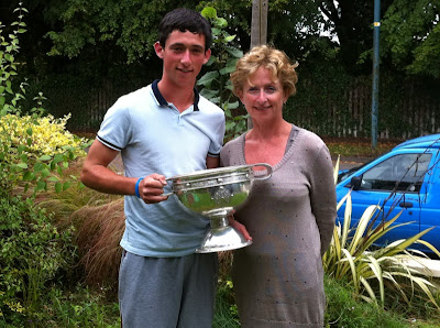 Eoin Symth and his mother with Leinster Cup before the Minor All Ireland Final 2011
