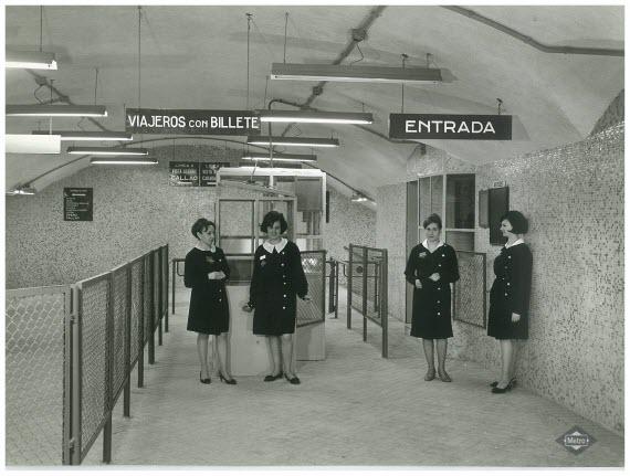 Las imágenes históricas de Metro de Madrid en la web
