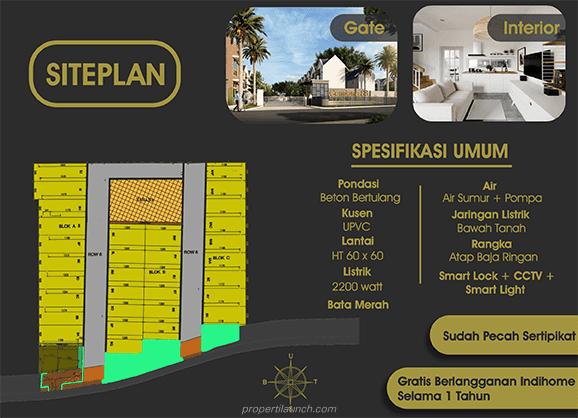 Siteplan dan Spek Rumah Cendana 88