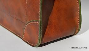 портфель кожаный ручной работы art S3 Titan