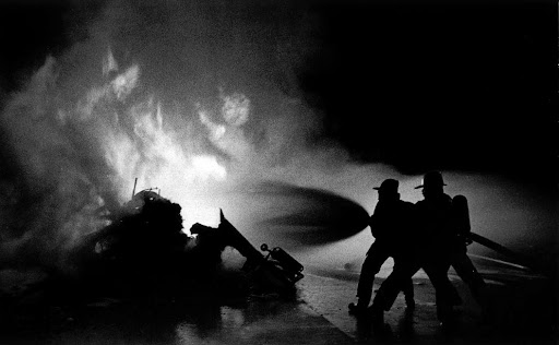 Tanker fire, North Hollywood, 1980s