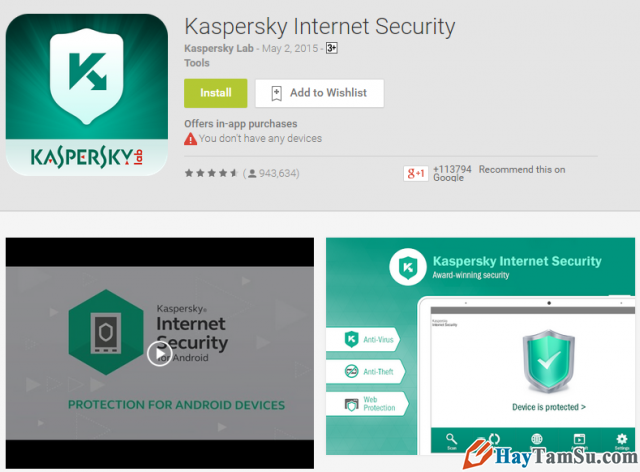 Ứng dụng Kaspersky Internet Security