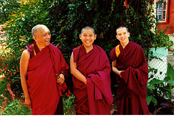 Lama Zopa Rinpoche, Ling Rinpoche and Osel