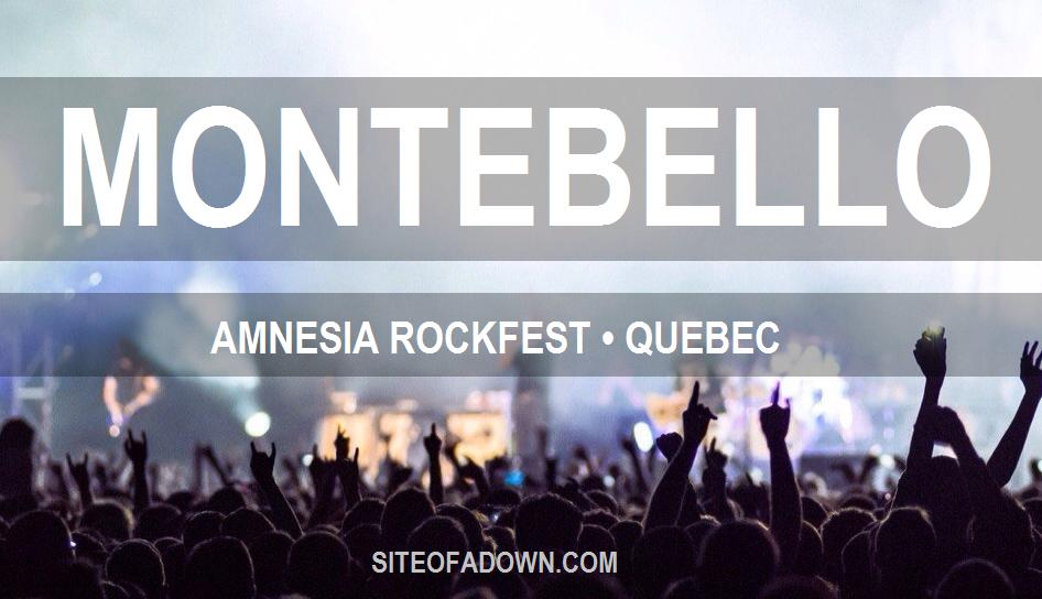 Show em Montebello, Canadá – Amnesia Rockfest