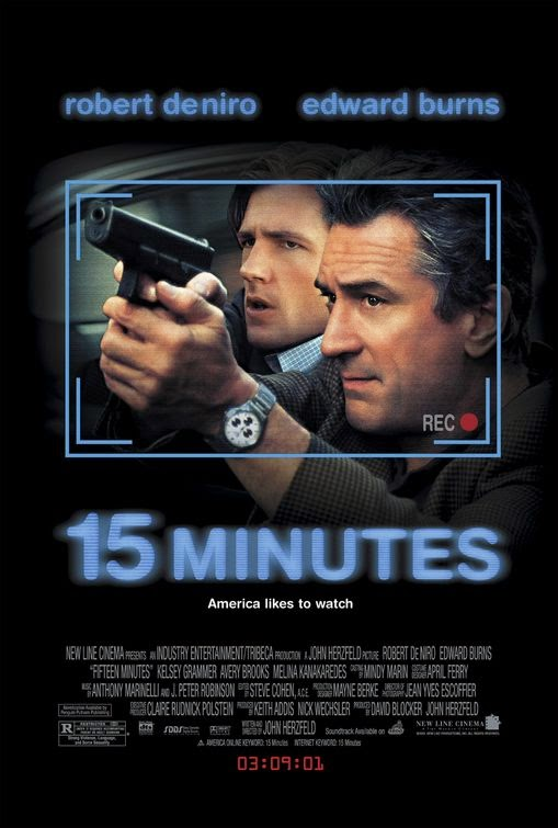 Poster Of 15 Minutes (2001) Full Movie Hindi Dubbed Free Download Watch Online At Alldownloads4u.Com