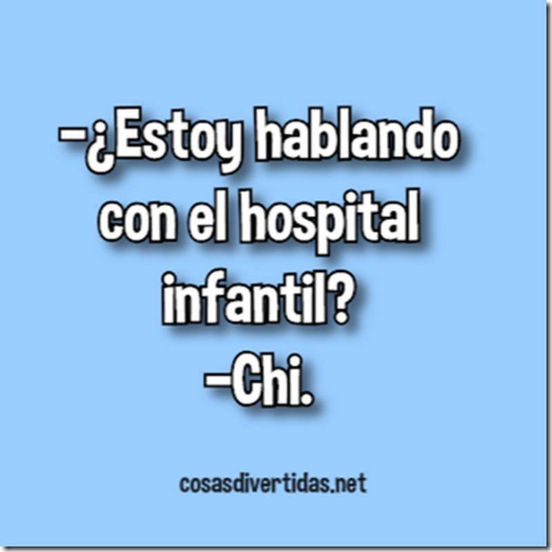Chistes cortos Hospital infantil