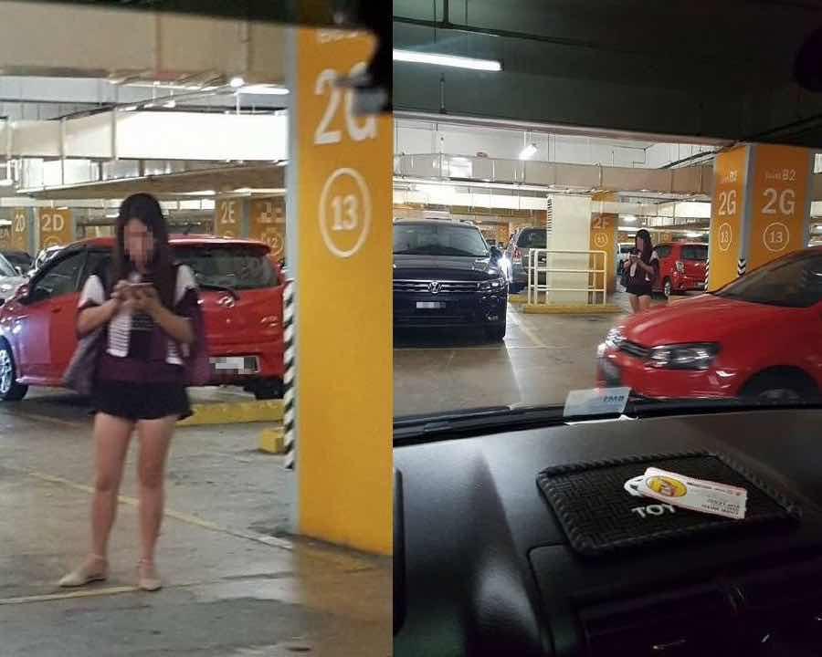 Perempuan chop parking