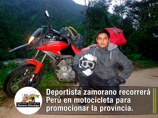 DEPORTISTA ZAMORANO RECORRERÁ PERÚ EN UNA MOTOCICLETA PARA PROMOCIONAR LA PROVINCIA