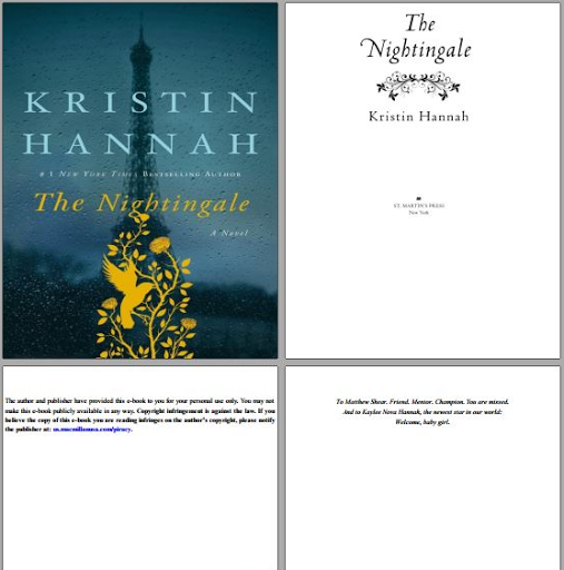 The Nightingale Kristin Hannah pdf download free
