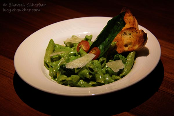 Pasta Penne Pesto served at Toss Sports Lounge Koregaon Park