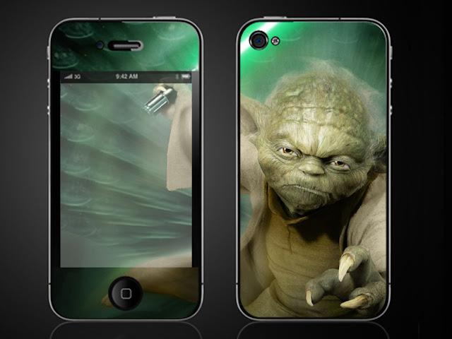 STAR WARS YODA iPhone 4 G Vinyl Skin Decal Sticker