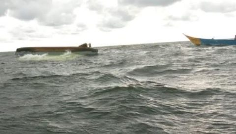 Capsized boat in Usenge Siaya