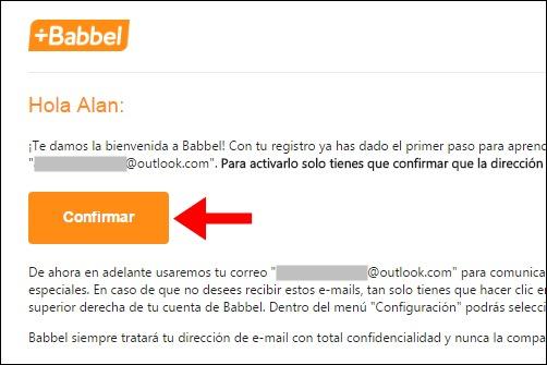 Abrir mi cuenta Babbel - 746
