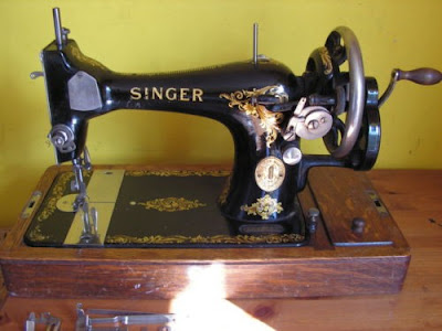 Male Pattern Boldness Just An Old Crank Fascinating Vintage Hand Crank Sewing Machine