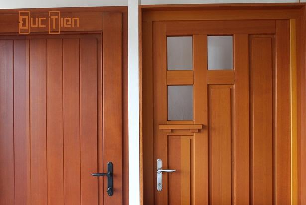cửa gỗ 2 cánh màu sắc tự nhiên
