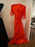 – PENETROVANÝ OBDELNÍK netkané textilie - koncept jednorázového společenského oděvu 05 Master diploma work CHELSEA COLLEGE - UALONDON