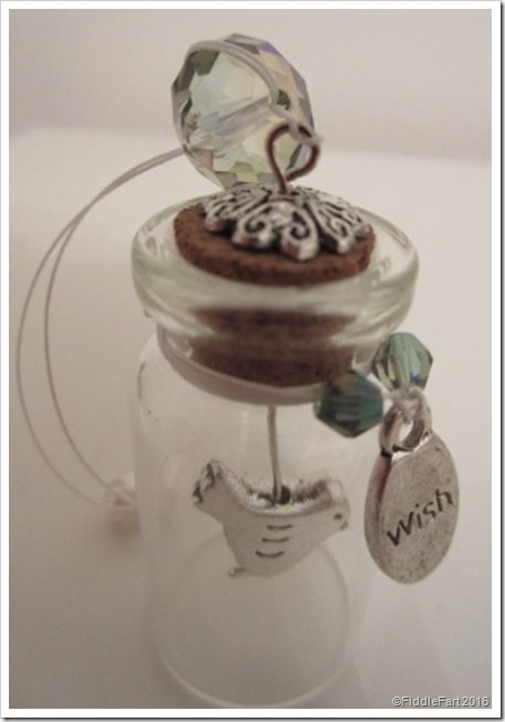 Tiny bird in a bottle wish bottle 2