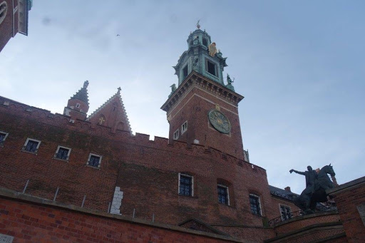 The tower of a building at the old town of Krakow Poland