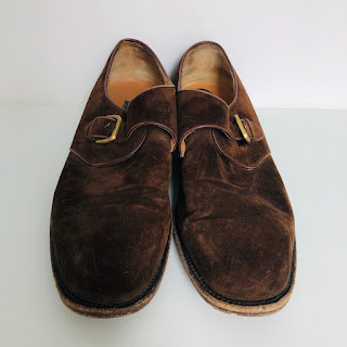 Salvatore Ferragamo Suede Leather Monkstraps