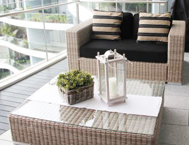 Outdoor 2 Seater Sofa And Coffee Table