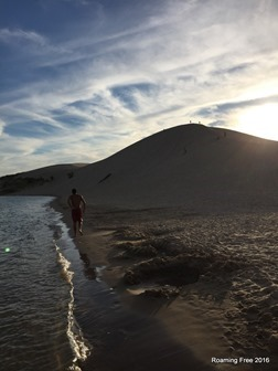 Going to climb the dune