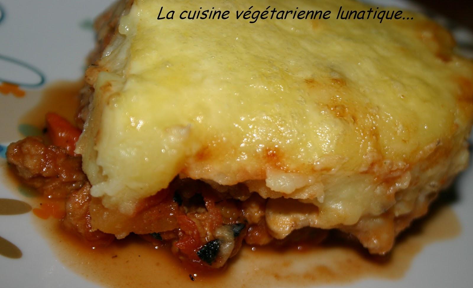 La cuisine v g tarienne lunatique parmentier v g - La cuisine vegetarienne ...