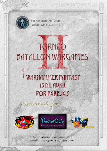II Torneo Batallon Wargames por parejas Warhammer Fantasy. Cartel
