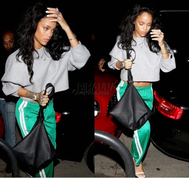 Rihanna in Resort 2015 Céline and Isabel Marant